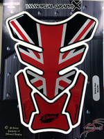 Black Red British Metallic 4 sides Tank Pad Protector