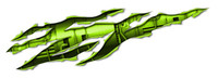 Turbine Rip Green Sticker Decal