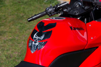 Smoke Screen Skull Bullet Shape Motorcycle Tank Pad