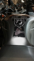 POW Mia Gray Original Shape Motorcycle Tank Pad