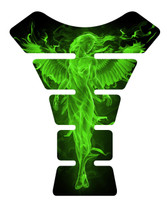 Fire Angel Green Motorcycle Tank Pad