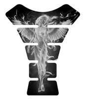 Fire Angel White Motorcycle Tank Pad