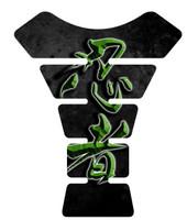 Ninja Kanji Lettering Green Motorcycle Tank pad