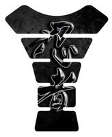 Ninja Kanji Lettering Black Motorcycle Tank Pad