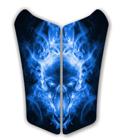 Can AM Spyder RS Exploding SKull Blue Motorcycle Tank pad