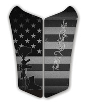 Can AM Spyder RS Fallen Soldier Black Motorcycle Tank pad