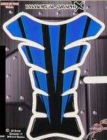 Razor Spear Blue Black Motorcycle Tank Pad Protector