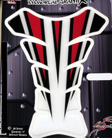 Razor Spear Red White Motorcycle Tank Pad Protector