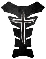 Jesus Christian Grunge Gross Black White Motorcycle Tank Pad
