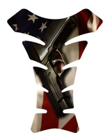 American Flag 2nd Amendment Motorcycle Tank Pad Protector