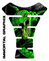Venom Snake Green Motorcycle Tank Pad protector