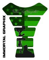 Fallen Soldier Green Tank Pad protector