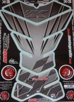 Kawasaki X Series Silver K Racing Tank Pad