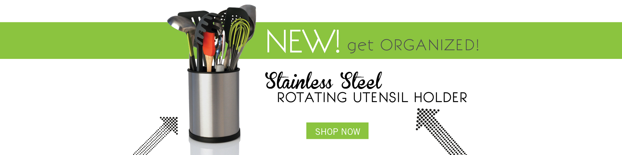 New Stainless Steel Utensil Holder