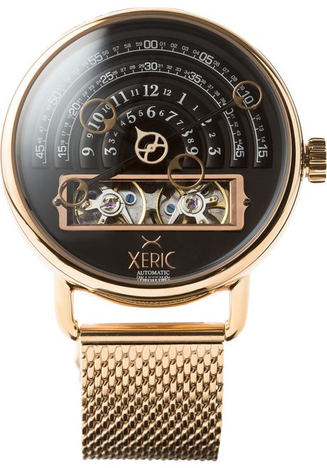 Halograph Automatic Mesh Rose Gold (HLG-3018M) front