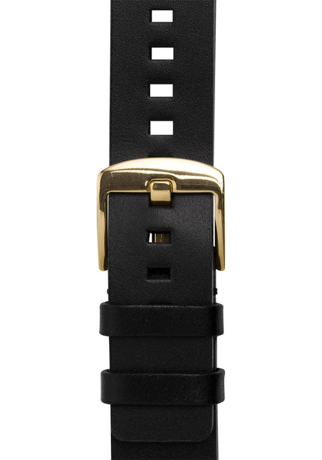 Xeric 20mm American Horween Black/Gold Leather Strap (XRC-RQSQ-20-BKGD)