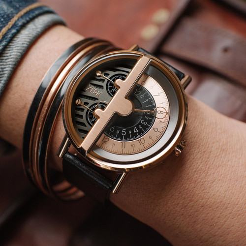 Xeric Soloscope RQ Rose Gold Black (SRQ-3018-BLK)