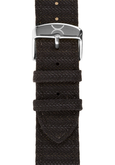 Xeric Savile Row 24mm Black Classic Worsted (XRC-SRS-24-BKCW)