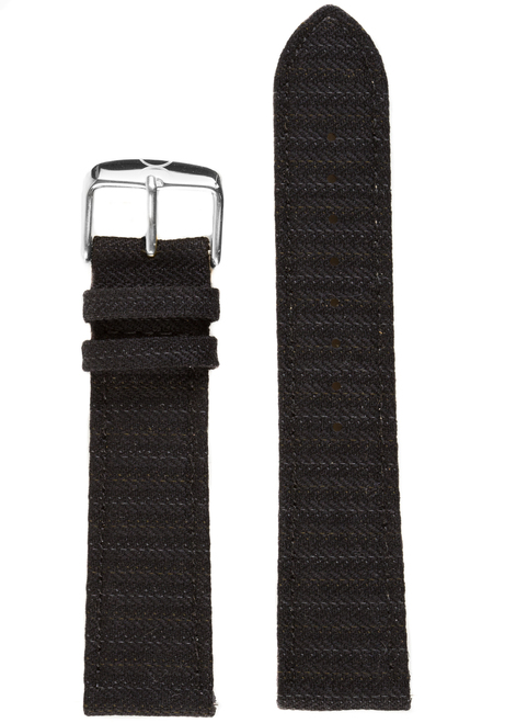 Xeric Savile Row 22mm Black Classic Worsted (XRC-SRS-22-BKCW)