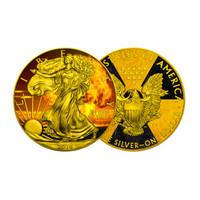 2016 AMERICAN EAGLE Nuke Nuclear Bomb Colorized 1oz Silver coin COA $1 Armageddon