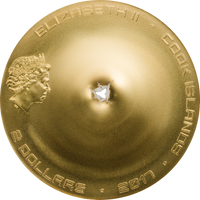 2017 CHERGACH Meteorite Impacts Silver Coin 2$ Cook Islands