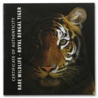 2017 ROYAL BENGAL TIGER Rare Wildlife 2 oz .999 Silver Proof Coin - Tanzania