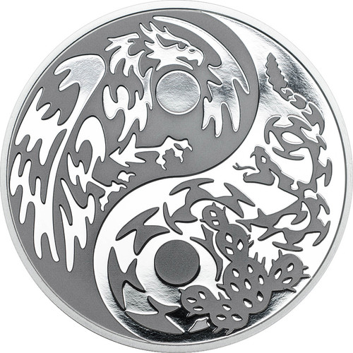 "2016 PREDATOR PREY .999 Silver Coin w/ Palladium $5 ""Eagle vs Snake"""
