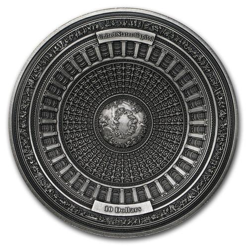 2017 UNITED STATES CAPITOL DOME 4-Layer 100 gram Silver Coin Capital Samoa