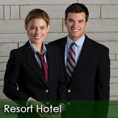Hotel uniform shirts and front desk suits