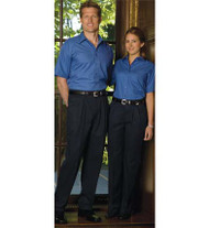 Pleated uniform pants for man and women