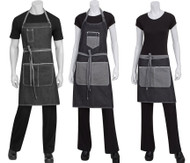 Full set of denim aprons