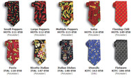 Different cuisine themed ties