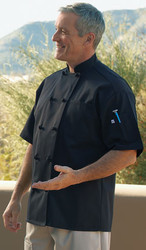 Affordable chef coat with short sleeves