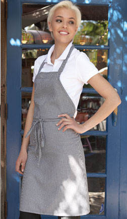 Extra coverage with this full bib apron!