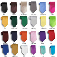 Choose from a variety of single colored neck ties!