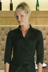 Look stylish while at work wearing this fitted blouse