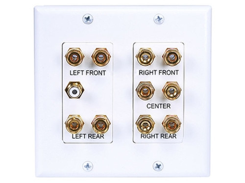 2-Gang 5.1 Surround Sound Wall Plate