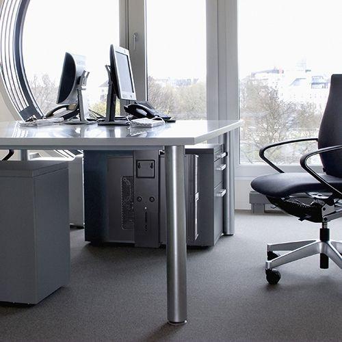 Adjustable Under-Desk /Wall CPU Mount