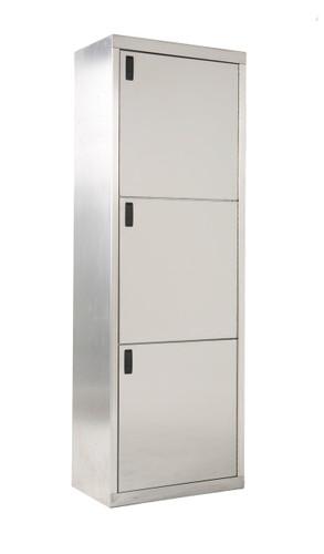 Stainless Steel Triple Stack Cabinet 1 x 3 Doors