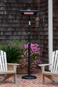 Pole Mounted Infrared Patio Heater Black