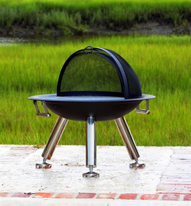 Terrace Fire Pit With Cook Top