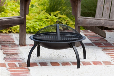 Folding Portable Fire Pit with Cook Top - 22""