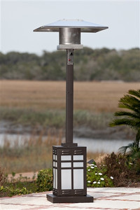 Square Mocha Patio Heater with Light