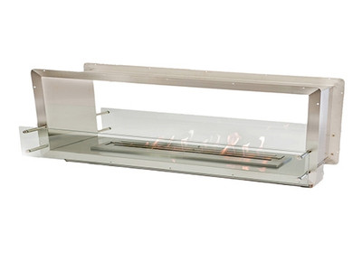 72 Inch See Through Vent Free Fireplace