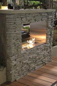 Key West Ready To Finish Linear Outdoor Fireplace