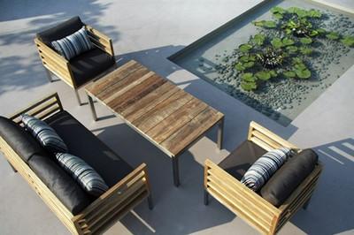 Modern Teak Bogard Outdoor Sofa