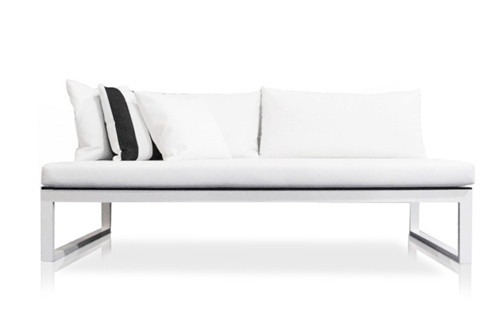 Modern Outdoor FurniturePiano Sectional Armless Sofa by Harbour
