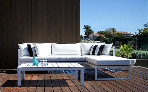 Attractive Harbour Outdoor Piano Sectional Chaise Lounge