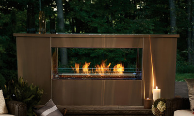 48 Inch Two-Sided Linear Outdoor Gas Fireplace