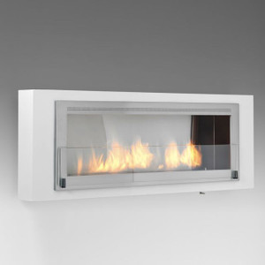 Eco-Feu Santa Cruz Modern Wall Mount Vent Free Linear Fireplace